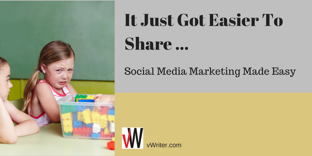 It Just Got Easier To Share ... Social Media Marketing Made Easy