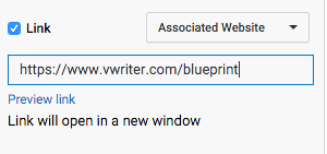 Select the Associated Site option and enter your URL