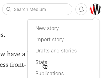 View your Medium stats to gain insights into how your content is performing.