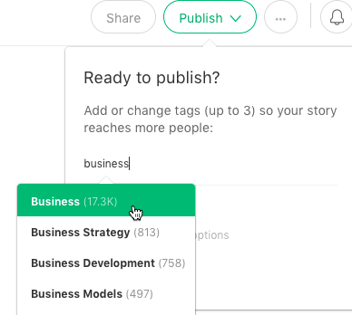 Use appropriate tags on Medium to reach your audience.