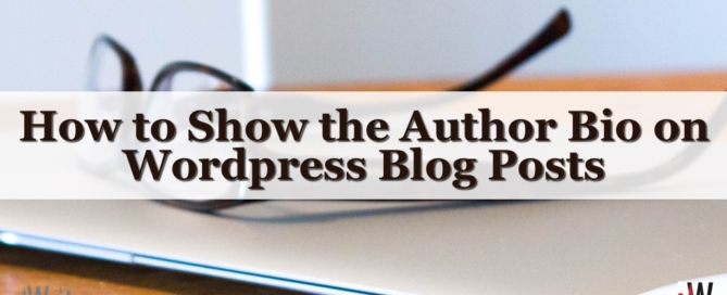 How to Show the Author Bio on Wordpress Blog Posts