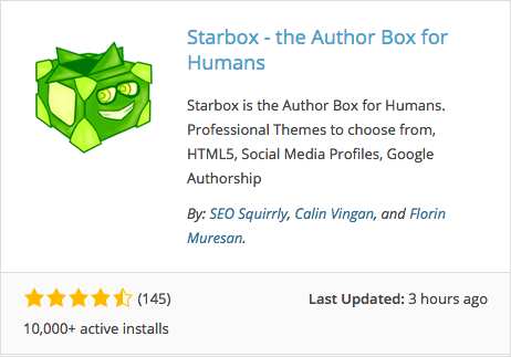 The author box plugin for WordPress, Starbox