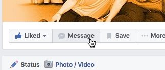 Message a Page on Facebook